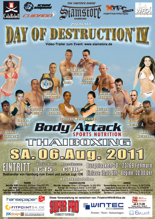 BodyAttack-Thaiboxing-Fehmarn 06. Aug 2011
